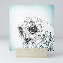 Abstract Owl - Illustration Geometric Mini Art Print