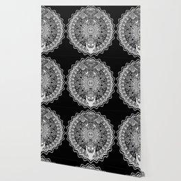 silver mandala Wallpaper
