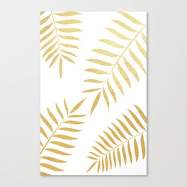 goldpalmleaves Canvas Print