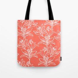 Lily Love in Coral Orange Tote Bag