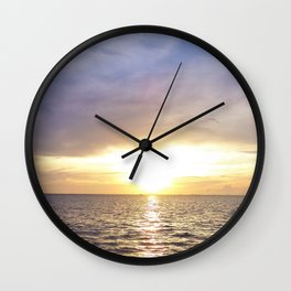 Sunrise over the Indian River 2 Wall Clock