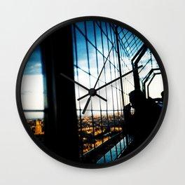 Eiffel Tower Silhouettes Wall Clock