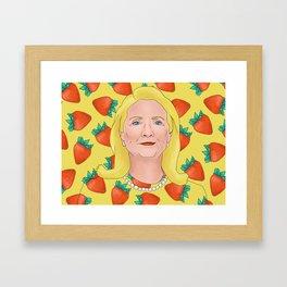 Hilary Clinton Framed Art Print