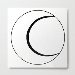 Tennis Bal Sketchl Over White Metal Print