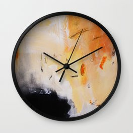 Rust black abstract art Wall Clock