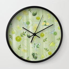 Freefall Lime Frenzy Wall Clock