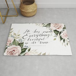 """""""He has made Everything beautiful in its time"""" Rug"""