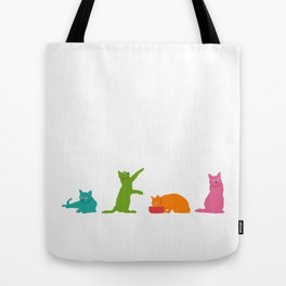 Cats Multicolor Tote Bag