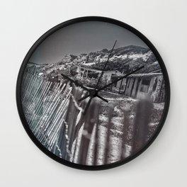 Crystal Cove Abandoned Beach Homes. Wall Clock