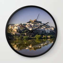 Dusk at Mertola, Portugal Wall Clock