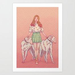 Signe du chien Art Print