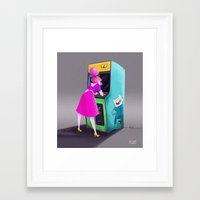princess bubblegum Framed Art Prints featuring Princess Bubblegum  by Melany Altuna