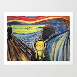 the scream silenced Art Print