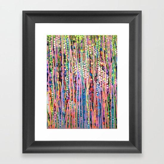 Data Framed Art Print
