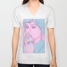 Third eye Girl Unisex V-Neck
