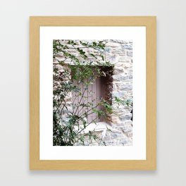 Window in Tinos Framed Art Print
