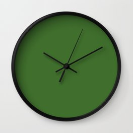 Green | Solid Colour Wall Clock