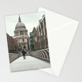 Millennium Bridge and St Paul's Cathedral in London, England Stationery Cards