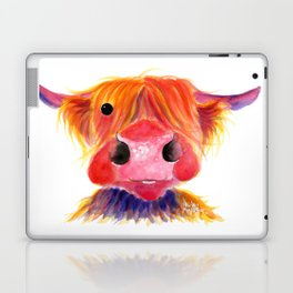 Scottish Highland Cow ' HeRbiE ' by Shirley MacArthur Laptop & iPad Skin