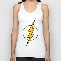 the flash Tank Tops featuring Flash by Merioris