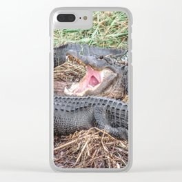 Say Aahhh Right Clear iPhone Case