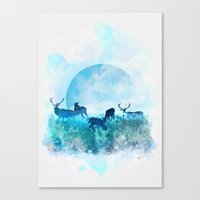 twilight Canvas Prints featuring Twilight by Lynette Sherrard Illustration and Design