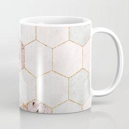 Hexagon Pink Marble Honeycomb Mosaic Coffee Mug