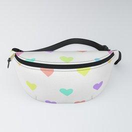 Cute Pastel Rainbow Hearts Pattern Fanny Pack