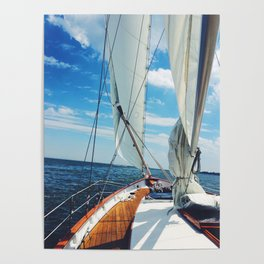 Sweet Sailing - Sailboat on the Chesapeake Bay in Annapolis, Maryland Poster