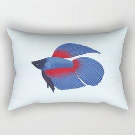 betta splendens royal blue male Rectangular Pillow