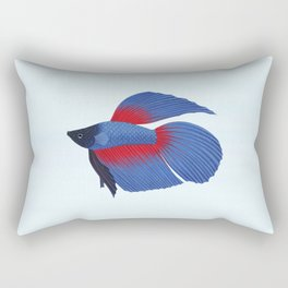 betta splendens royal blue male Rectangular Pillow