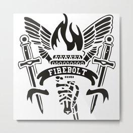 Fire Bolt Metal Print