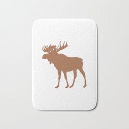 Moose: Brown Bath Mat