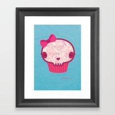 Cupcake Skull Framed Art Print