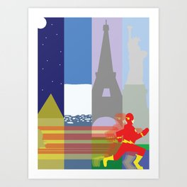 The Fastest Man Alive! Art Print