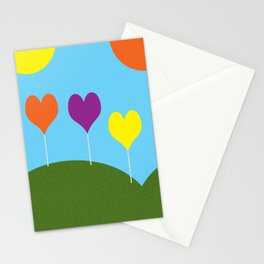 Happy Trees - Spring Stationery Cards