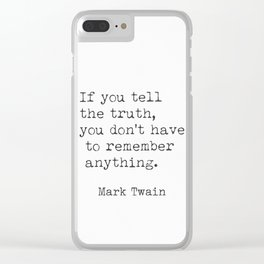 Mark Twain quote 9 Clear iPhone Case
