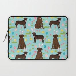 Chocolate Lab labrador retriever dog breed pet art easter pattern costume spring Laptop Sleeve