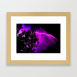 lightning burns the sky Framed Art Print