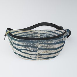 Zebra Stripes | Black & Khaki | Watercolor Animal Print Art Fanny Pack