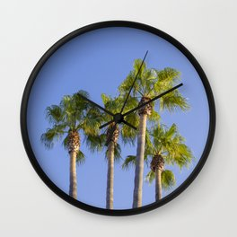 Palm trees on the wsky Wall Clock