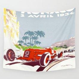 Monaco 1934 Monte-Carlo Grand Prix Wall Tapestry