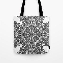 black, white and gray  Tote Bag