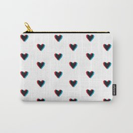 3D Hearts Carry-All Pouch