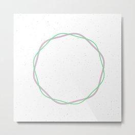 Circle minimal geometric Metal Print