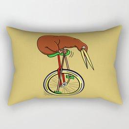 Kiwi Riding A Unicycle Rectangular Pillow