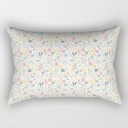 Spring Florals in Mint Rectangular Pillow