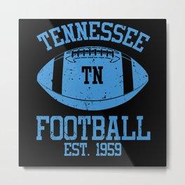 Tennessee Football Fan Gift Present Idea Metal Print