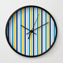 Hanukkah Colors Contemporary Striped Pattern Wall Clock