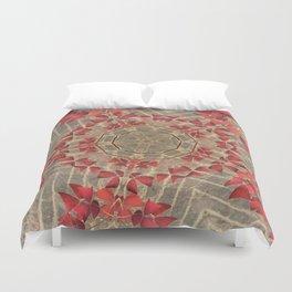 Red Clovers Duvet Cover